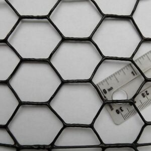 Chicken Wire Fence Black Pvc Coated Uv 1 Quot Hex Poultry