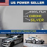 48 X 60 Chrome Silver Auto Wraps Self Adhesive Sticker Decals Vinyl Films