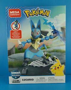 Mega Construx Wonder Builders Pokemon LUCARIO 71 Piece Set GFV71 New