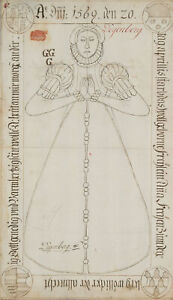 Epitaph-Ana-von-Degenberg-gest-1569-Heraldik-Wappen-um-1700-Zeichnung