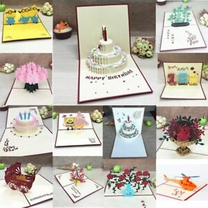 Birthday-Postcard-Gift-Cards-3D-Handmade-Pop-Up-Laser-Cut