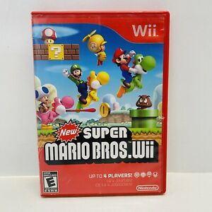 NINTENDO-WII-NEW-SUPER-MARIO-BROS-WII-CASE-AND-GAME-Tested-amp-Clean-Fast-Ship