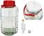 Glas mit Gärsystem Gärbehälter Glasballon Weinballon Fermentation von 3-25 l