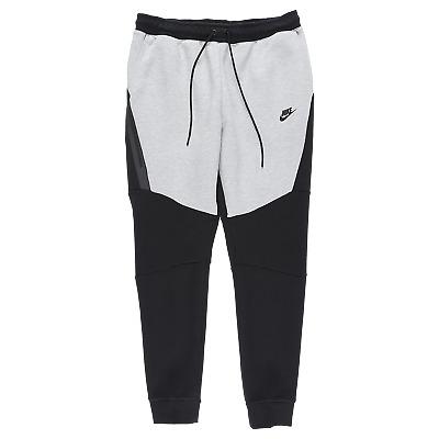 Nike Tech Fleece Joggers Pants Cuffed Black Grey 805162 015 Sweatpants Xlt Tall Ebay