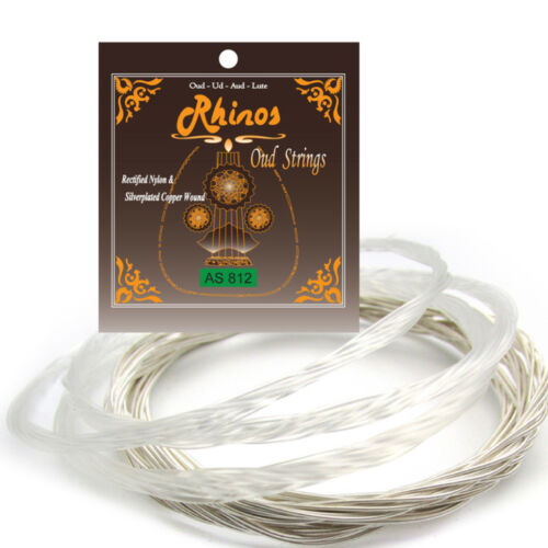 2 Packs Rhinos AS812 Set of Pcs Oud String Super Silverplated Copper Wound AU UD