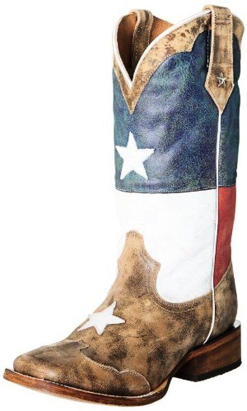 Roper Texas Flag Mens Western avvio- Choose SZ Coloree.