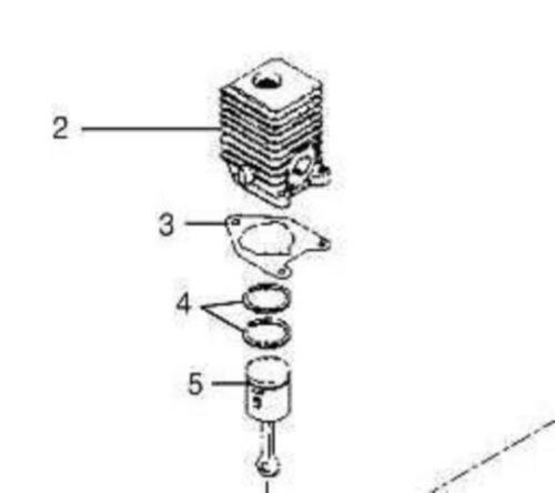 30cc Homelite piston cylinder kit assy Leaf blower parts