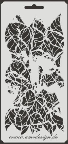 Scrapbooking gabarit s-096 feuilles vintage ~ stencil ~ umr-DESIGN