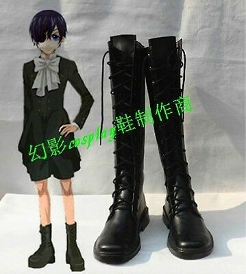 Black Butler Ciel Phantomhive cosplay shoes boots Custom-Made