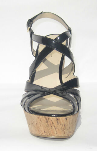 NINE WEST ~ STRAPPY PATENT ADDAGIRL PLATFORM SANDAL ~ BLACK OR TAN  ~ FUN RED