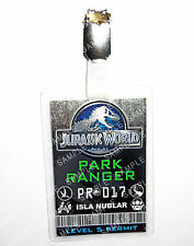 Jurassic World ID Badge Park Ranger Ingen Cosplay Prop Costume Gift Comic Con