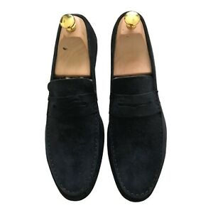 Paul Smith MANCINI Blue suede Loafer Shoes UK 7 EU 41