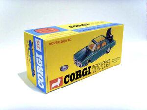 CORGI TOYS Nº 275-ROVER 2000 TC. superba, visualizzazione personalizzata/di riproduzione.