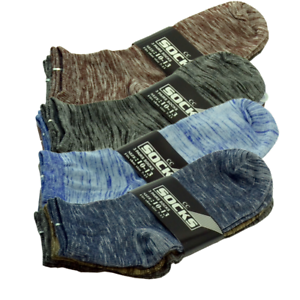 For-Mens-6-Pairs-Ankle-Quarter-Crew-Socks-Casual-Thin-Galaxy-Cotton-Stretch-9-13