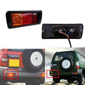 1 Pair Rear Bumper Fog Light Lamp for Toyota Land Cruiser Prado 90 1997-2002