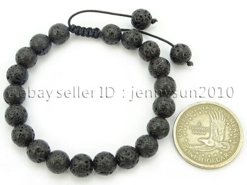 Handmade 8mm Adjustable Mixed Natural Gemstone Round Bead Bracelet Healing Reiki