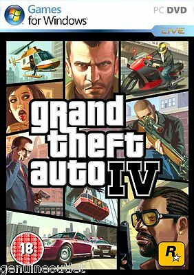 Grand Theft Auto IV 4 PC Full Version Brand New Factory Sealed