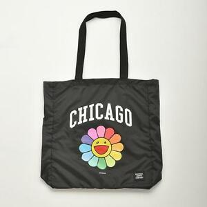 e39906dd02f31f Image is loading Murakami-Takashi-Rainbow-Flower-ComplexCon-Chicago-Black- Herschel-