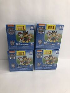 Lot-of-4-New-Paw-Patrol-Series-1-Paw-Mini-Figures-Blind-Box-Unopened