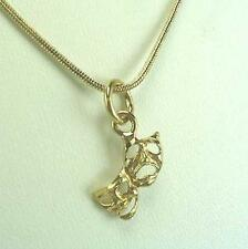 Comedy Tragedy Drama Mask Necklace In 18K Gold Plated - LIFETIME WARRANTY