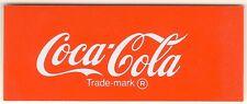 "Coca-Cola Vending Machine Insert, NON CLASSIC, 1 7/8"" x 4 5/8"""