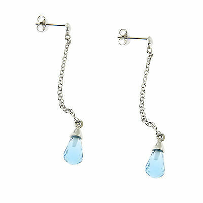 925 Sterling Silver Colorful Crystal Threader Dangle Earrings