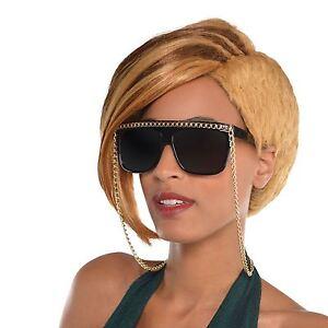 vente en ligne plutôt sympa énorme inventaire Détails sur Hip Hop Lunettes de Soleil Chaîne or Gangster Rappeur Célébrité  Accessoire
