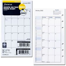 2022 Filofax Personal Size Refill 22 68410 Month On Two Pages 95mm X 171mm