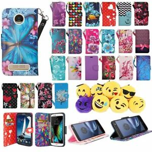 brand new e994a 01307 Details about For Motorola Z2 Play Moto Z 2 Play PU Leather Design Wallet  Flip Cover Case