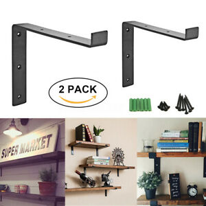 Details about 2-6 Pcs Heavy Duty Shelf Brackets Scaffold Board Industrial  Rustic Steel Metal