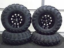 "HONDA RANCHER 350 (SRA) 25""  MUD LITE ATV TIRE- ITP BLACK ATV WHEEL KIT COMPLETE"