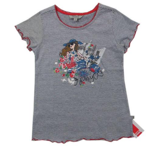 Kanz Shirt T-Shirt Shirt kurzarm Baumwolle blau weiß Mädchen Gr.80,92,116,122