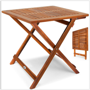 Details About Small Garden Side Table Patio Balcony Folding Teak Coffee End Table Outdoor Uk