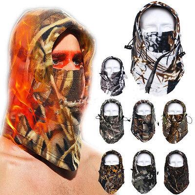 Camo Thermal FLEECE BALACLAVA Winter Ski Neck Hoods Full Face Mask Cover Hat Cap