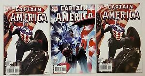 CAPTAIN AMERICA #34 1st Bucky as Cap 3pc Lot Alex Ross Variant Epting Brubaker