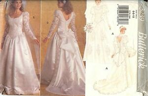 1f9c381bb Image is loading Butterick-3239-Bridal-Gown-Wedding-Dress-sewing-pattern-