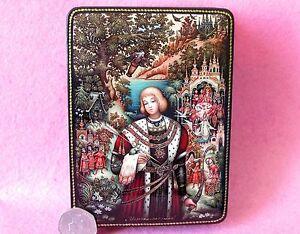 Russian-GICLEE-Lacquer-box-Fairy-Tale-Frog-Princess-Tsarevna-PALEKH-Prince-IVAN