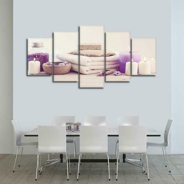Aroma Spa Massage 5 panel canvas Wall Art Home Decor Print Painting