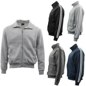 Men-039-s-Casual-Sweatshirt-Jacket-Full-Zip-Stand-Collar-Sports-Jumper-Hoodie