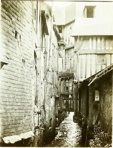 FRANCE-Canal-Pont-des-Soupirs-Photo-Stereo-Vintage-Plaque-Verre-ca-1910