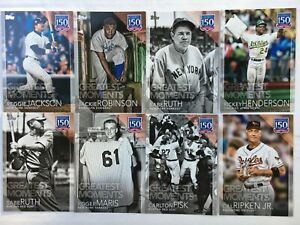 2019-Topps-Series-1-150-Years-Baseball-Insert-Singles-U-PICK-Complete-Your-Set