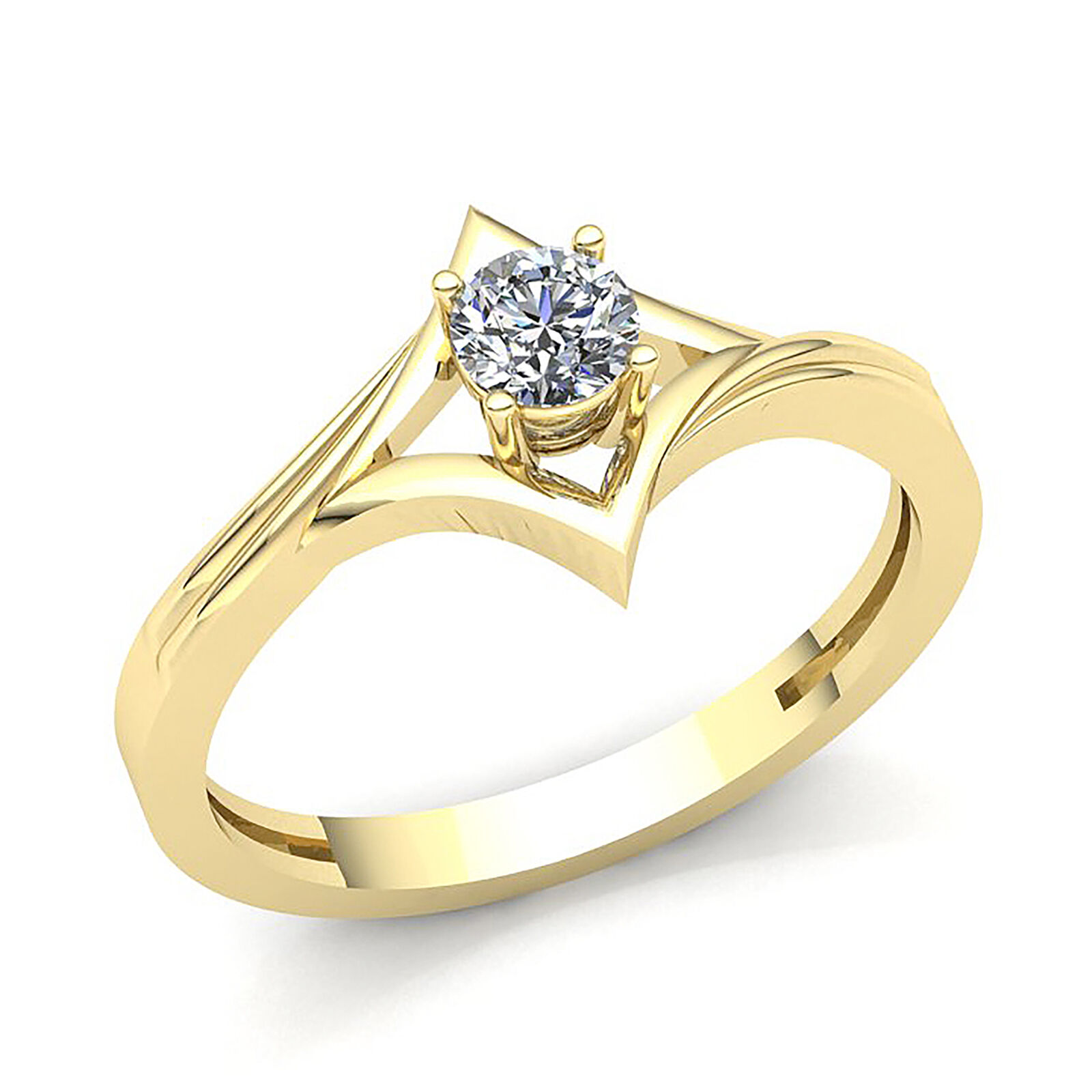 cf2f27f39d674 Diamond Round 0.60ctw Women's gold 10K Solid Ring Engagement ...