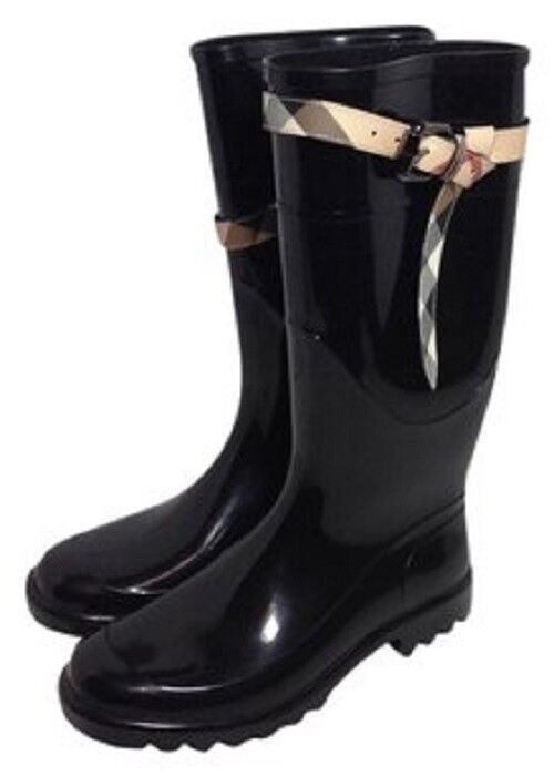 NEW BURBERRY WELLIES RAIN Stiefel  SZ 40 EU   Stiefel 10 US RARE SOLD OUT MSRP 495 4f23a4