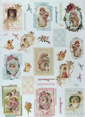 Rice paper -Vintage Girls- for Decoupage Scrapbooking Sheet Craft