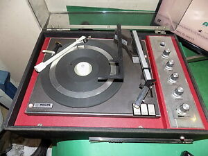 Philips-Vintage-Plattenspieler-Plattenspieler-Hifi-Vintage-Qualitaet-defekt-Ersatzteile