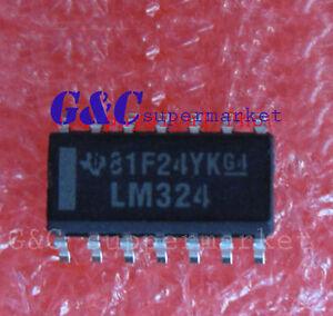 100PCS IC LM324 SOP14 TI  NEW GOOD QUALITY