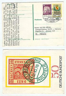 08453 - Sonderstempel-gruß: Bochum 11.2.1979 - Ganzsache Mit Zusatzfrankatur Diversifiziert In Der Verpackung