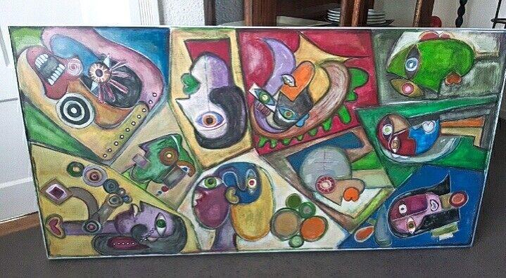 Akrylmaleri, Dana Møller, motiv: Abstrakt