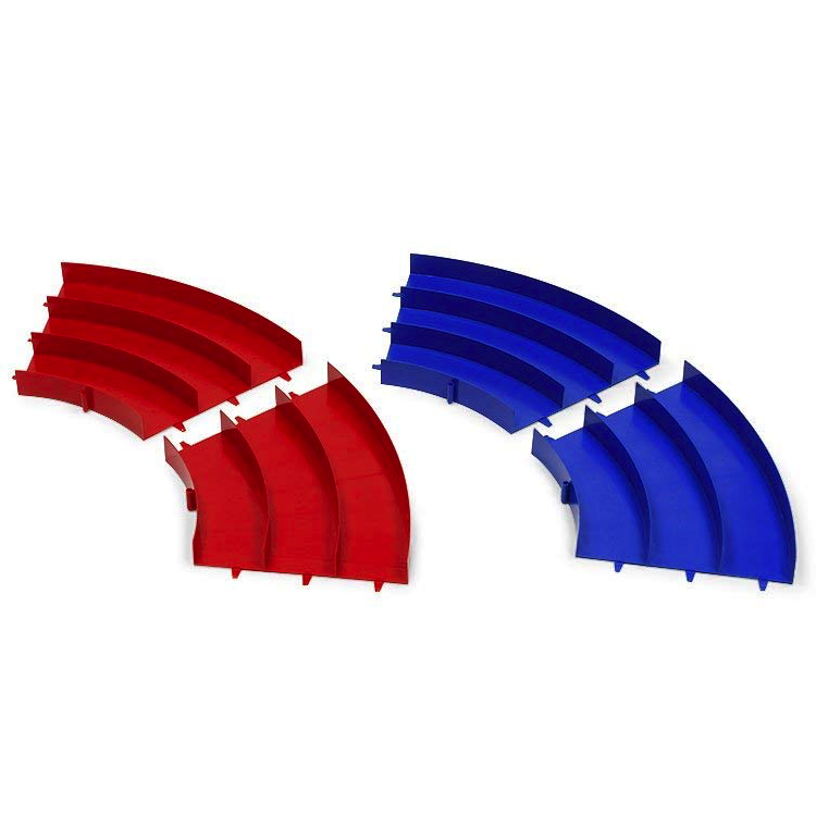 Tamiya 69573 Mini 4WD Japan Cup Junior Circuit Curve Section Set (Blue/Red 4pcs)