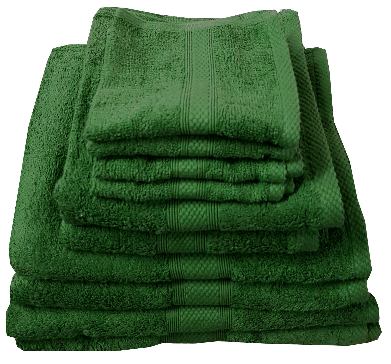 BOTTLE GREEN 500 GSM EGYPTIAN COTTON TOWELS LUXURY COMBED COTTON HAND BATH SHEET